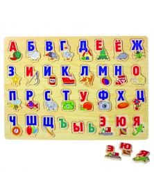 """Holzrahmenspiel """"Alphabet"""", ab 4 Jahren"""