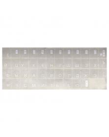 Die Etiketten mit den russischen Buchstaben auf die PC- oder MAC- Tastatur