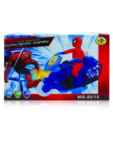 Spider-Man auf dem Motorrad