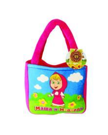 """Handtasche """" Mascha und der Bär"""", in dunkelrosa"""