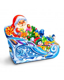 Neujahrsgeschenkverpackung Weihnachtsschlitten