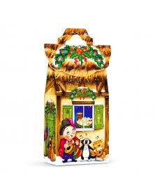 Neujahrsgeschenkverpackung Strohgedecktes Haus