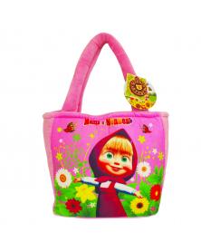 "Handtasche "" Mascha und der Bär"", hellrosa"