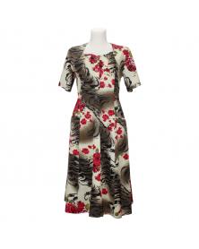 Hauskleid aus Baumwolle mit Knöpfe, Größe unisize