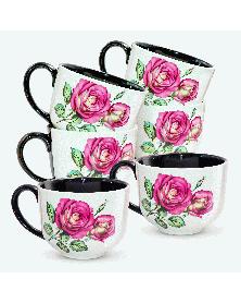 "Tassen-Set ""Rose"" 6 Tlg"