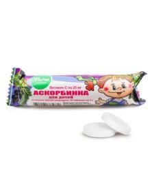 Ascorbinsäure für Kinder mit Geschmack nach schwarzen Johannisbeeren