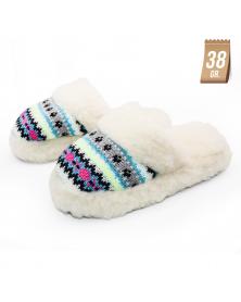 Hausschuhe für Damen aus Schafwolle