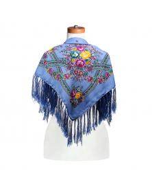 Kopftuch aus Wolle mit Quasten, 96x96 cm
