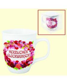 """Tasse """"Herzlichen Glückwunsch"""", 0,4 l"""