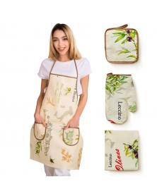 """Küchenset aus Leinen """"Olivia"""",4-Tlg"""