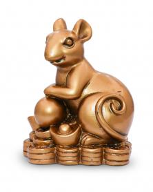 """Figur """"Ratte auf Münzen"""""""