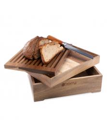 Хлебница из дерева акации