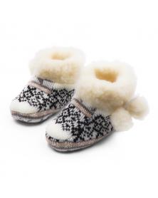 Hüttenschuhe für Babys für Mädchen aus Schafwolle