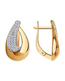 Ohrhänger vergoldet mit Zirkonia