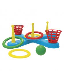 Wurfspiel mit Ringen und Bällen
