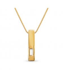 Kette mit Anhänger und Swarovski Kristall, Vergoldet 18 K LC