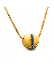 Kette mit Herzanhänger und Swarovski-Kristallen, Vergoldet 18 LC