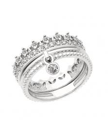 Damenring Krone mit Zirkonia