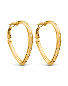 Ohrringe mit Swarovski Kristallen, Vergoldet 18 K LC