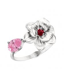 Damenring mit rosa Zirkonia
