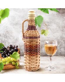 Geflochtene Weinflasche