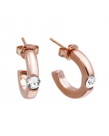 Ohrringe mit Swarovski Kristallen, Vergoldet mit 18K Rotgold LC