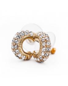 Кольцо с натуральным жемчугом и фианитами