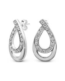 Ohrringe mit Swarovski Kristallen, Rhodiniert LC