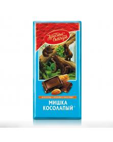 "Schokolade ""Klumpfüßiger Bär"" mit Mandeln und Waffeln 75g"