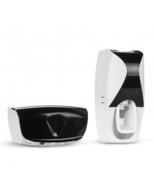 Automatische Zahnpasta Spender Tubenpresse +5 Zahnbürstenhalter