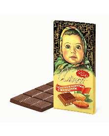 """Milchschokolade """"Alönka"""" mit Mandeln 100g"""