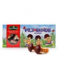 Fröhliche Pilz-Bande - Mini Keks 60g mit Schokolade Miltonas