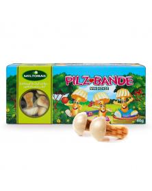 Fröhliche Pilz-Bande - Mini Keks 60g mit weiße Fettglasur Miltonas