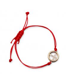 Armband mit Kreuzanhänger rot