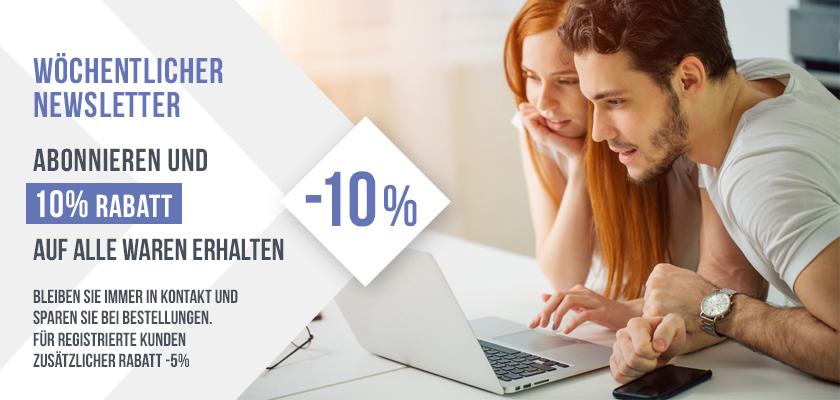 Abonnieren Sie unseren Newsletter und erhalten Sie einen einmaligen Rabatt von 10% auf alle Produkte!