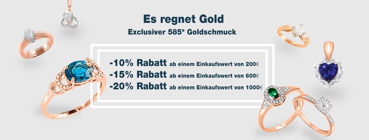 GOLDENES FIEBER! Goldschmuck 585 ° bis zu -20% Rabatt!